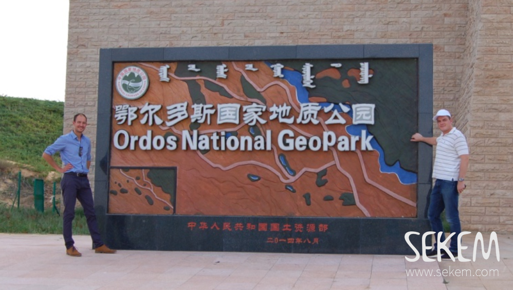 Maximilian Abouleish visiting the Ordos National Park, Inner Mongolia