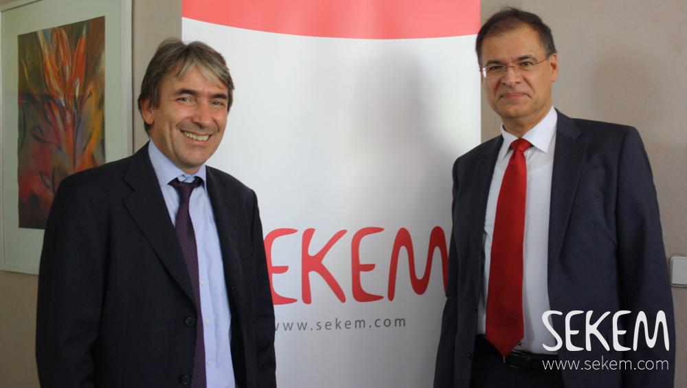Helmy Abouleish, SEKEM und Dr. Andreas Kuck, GIZ Landesdirektor