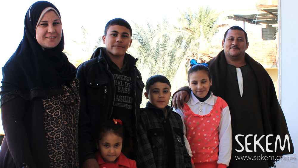 Ahmed Abou Hamed and his family.