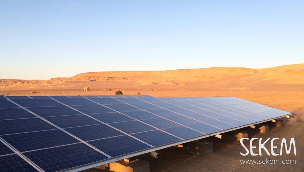 Solarbetriebene Wasserpumpe in SEKEM.
