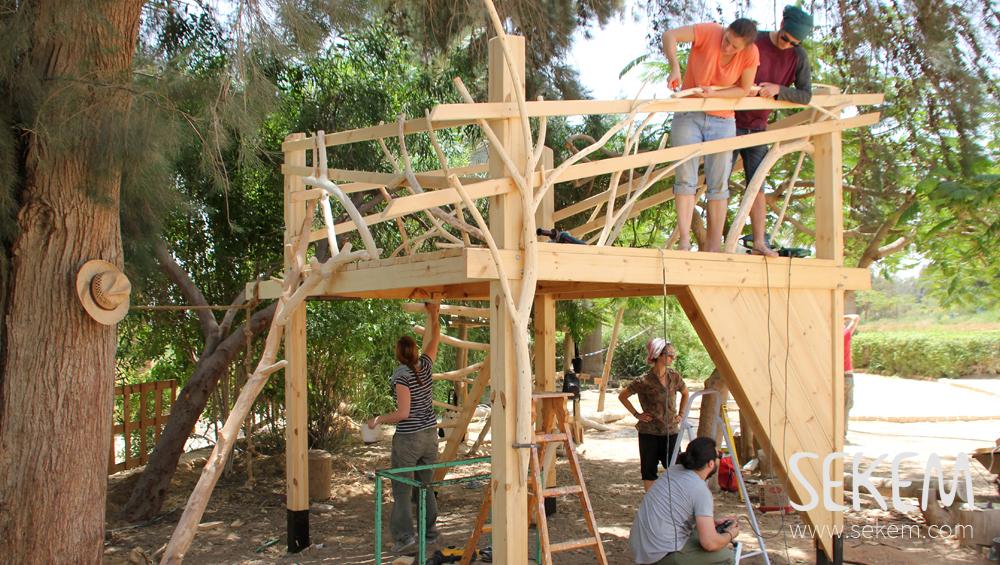 Building a climbing frame