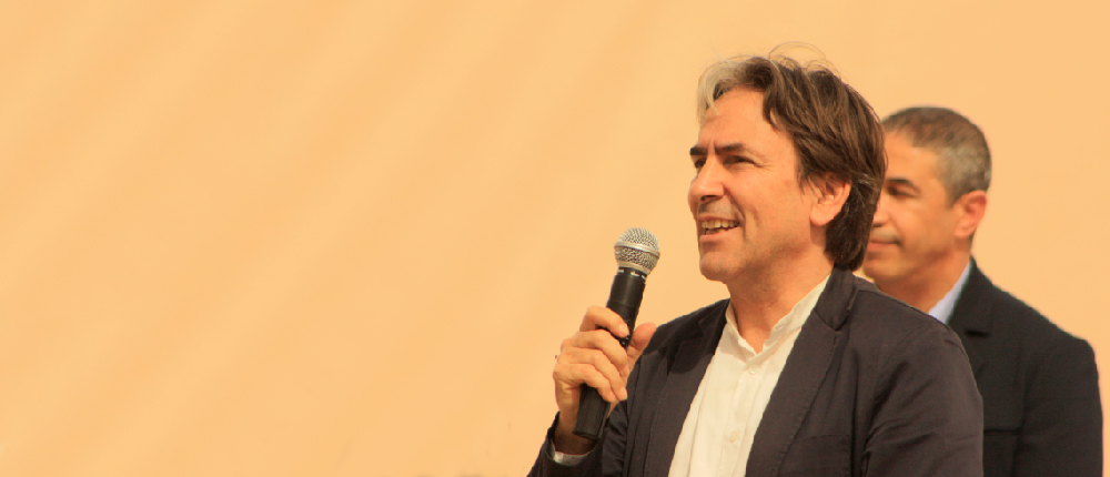 Helmy Abouleish during SEKEMs annual spring festival, 2017