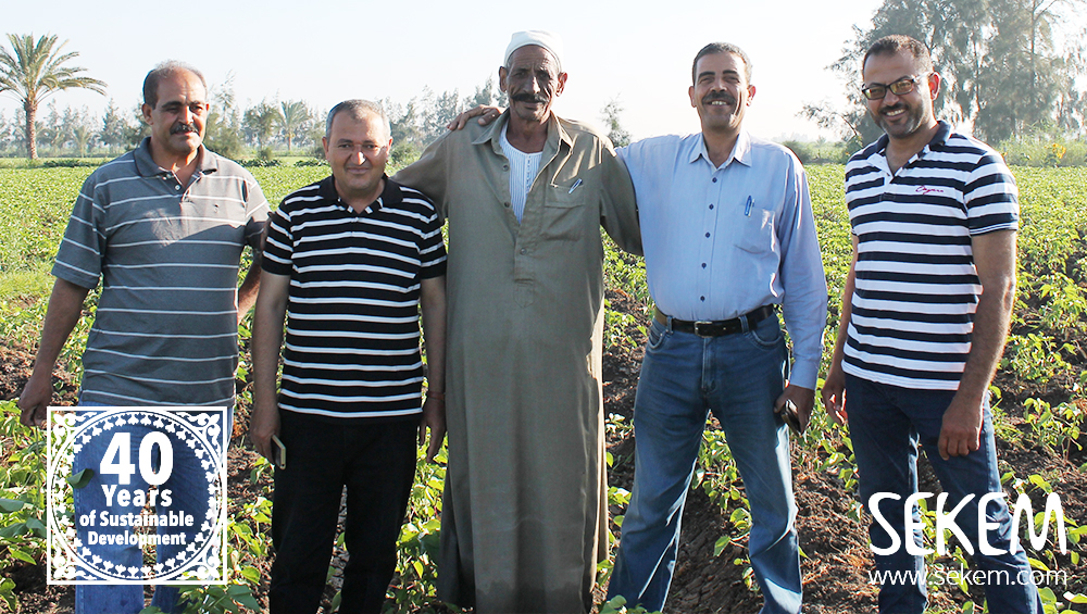 Al-Sddiq with some of the EBDA's Agricultural Engineers