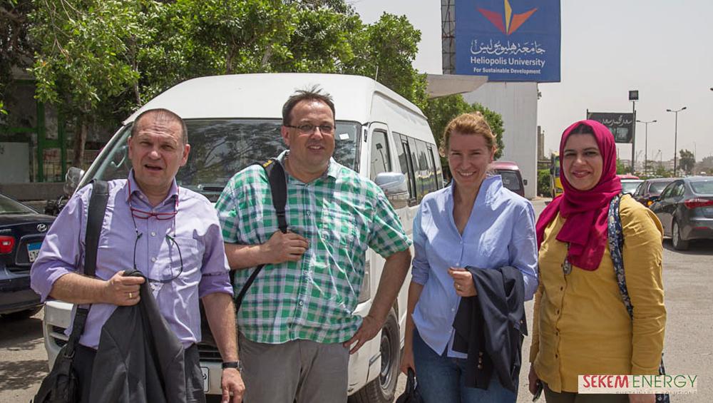 Naglaa Ahmed (rechts) mit den Partnern des Projekts.