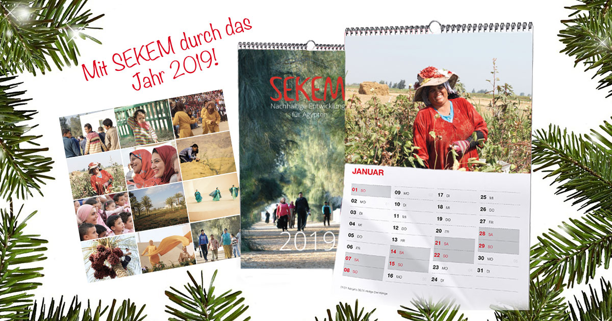 SEKEM Calendar 2019: Sustainable Christmas with the SEKEM Shop