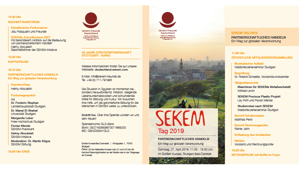 Invitation SEKEM Day 2019 in Germany