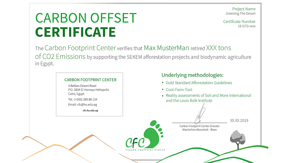 Offset Your CO2 Footprint with SEKEM