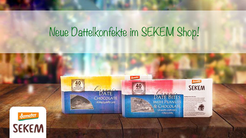 Neue süße Verführungen im SEKEM Shop
